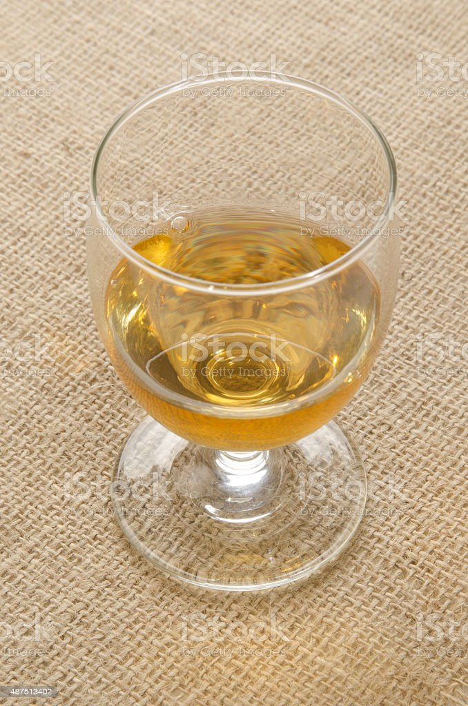 tripple distilled irish whiskey in a glass stock photo