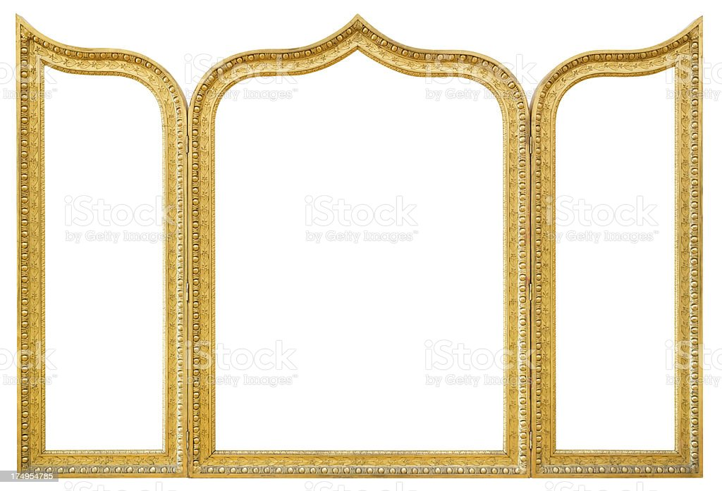 Triptych Picture Frame stock photo