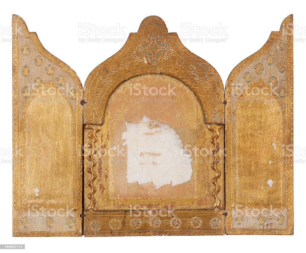 Triptych stock photo