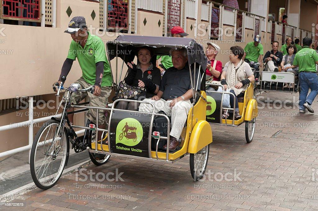 Trishaw tour royalty-free stock photo