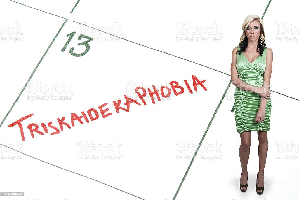 Triskaidekaphobia stock photo