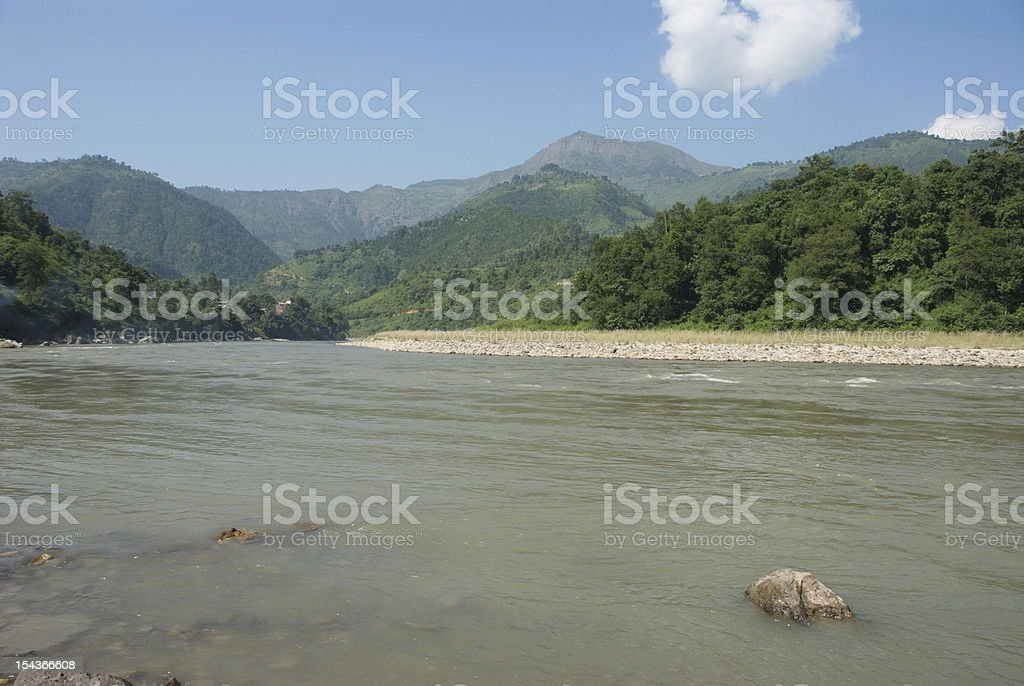 Trisuli river royalty-free stock photo