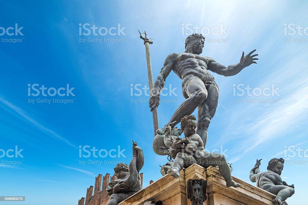 Triton statue in Bologna stock photo