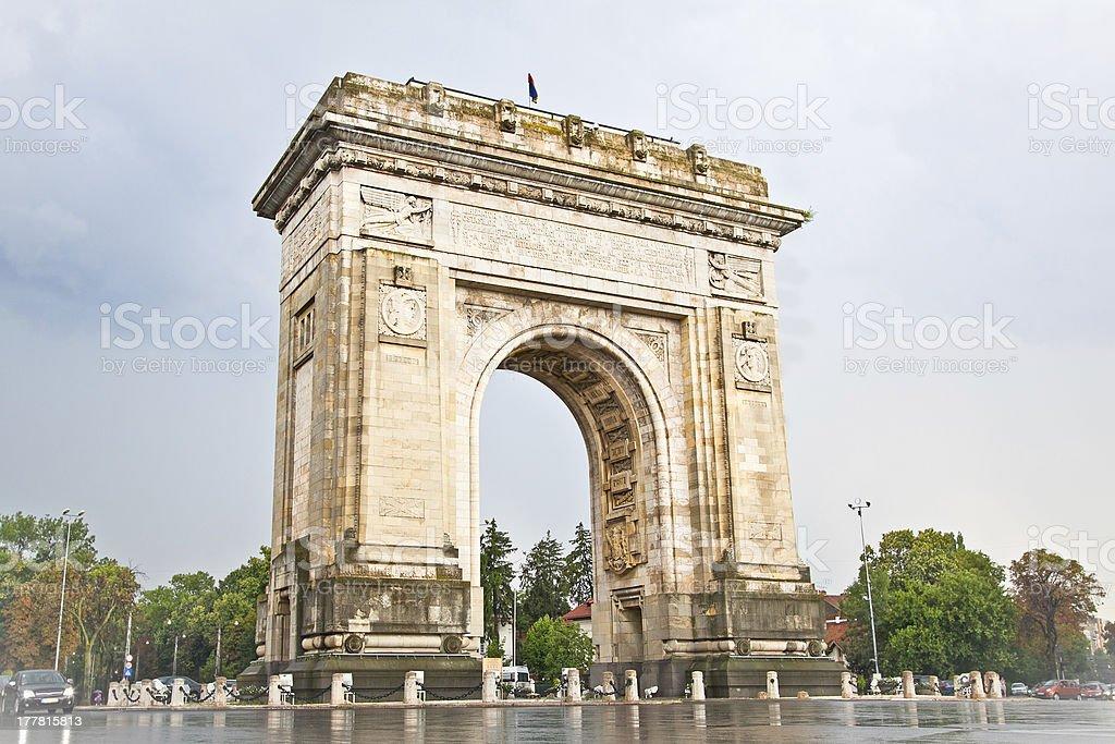 Triumph Arch in Bucharest, Romania. royalty-free stock photo