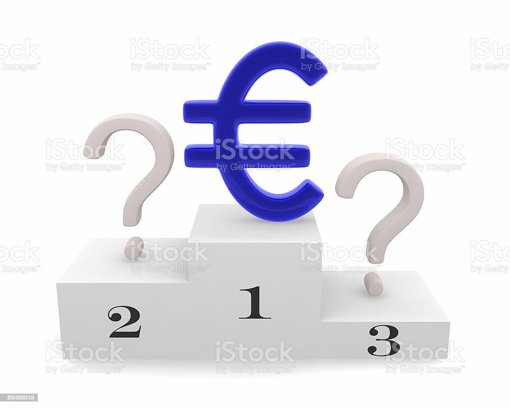 Triumph of euro. royalty-free stock photo