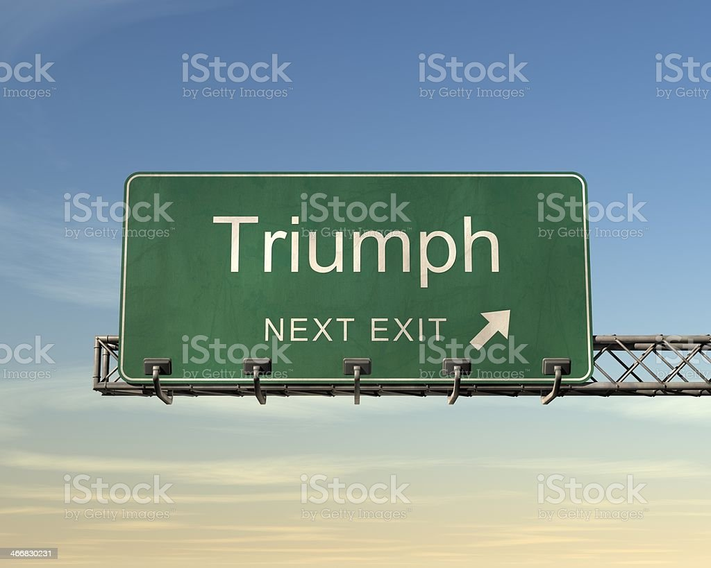 Triumph Road Sign royalty-free stock photo