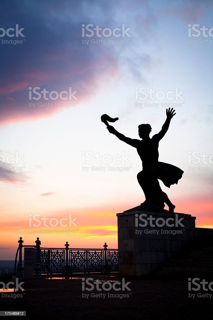 triumph statue royalty-free stock photo