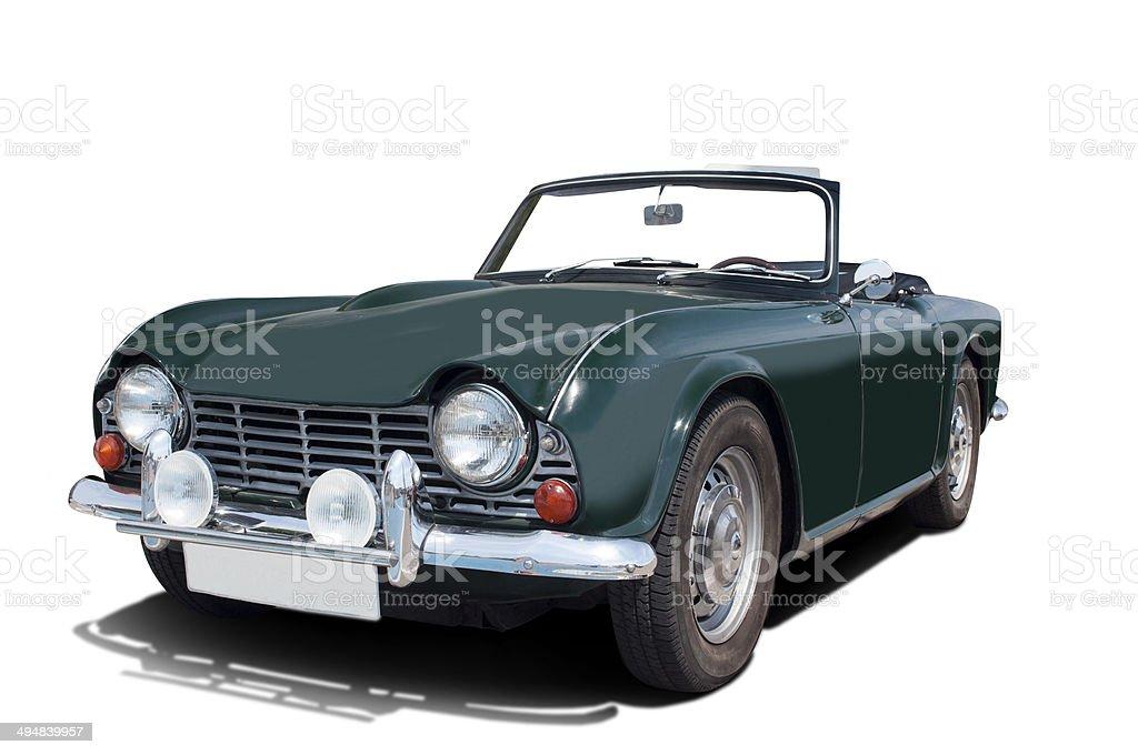Triumph TR4 Convertible green stock photo