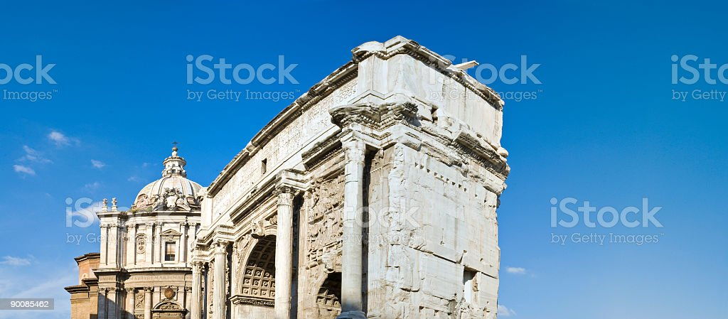 Triumphal arch, Forum, Rome royalty-free stock photo