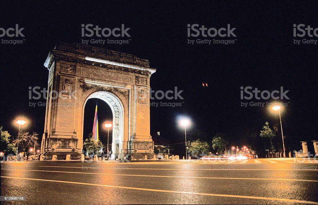 Triumphal Arch in Romania stock photo