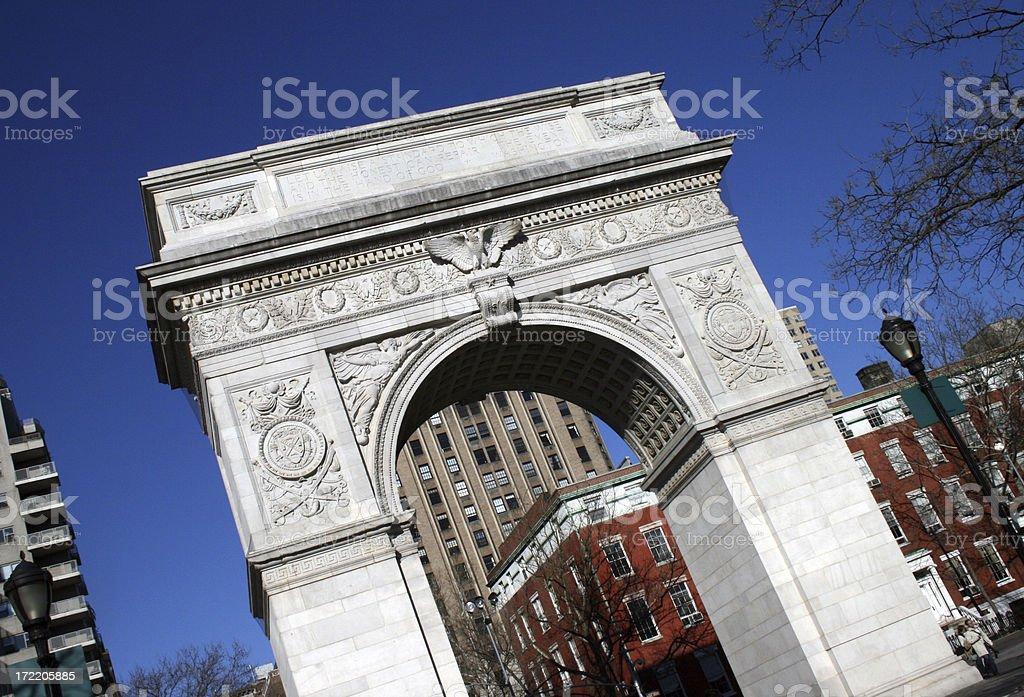Triumphal Arch in Washington Square - New York stock photo
