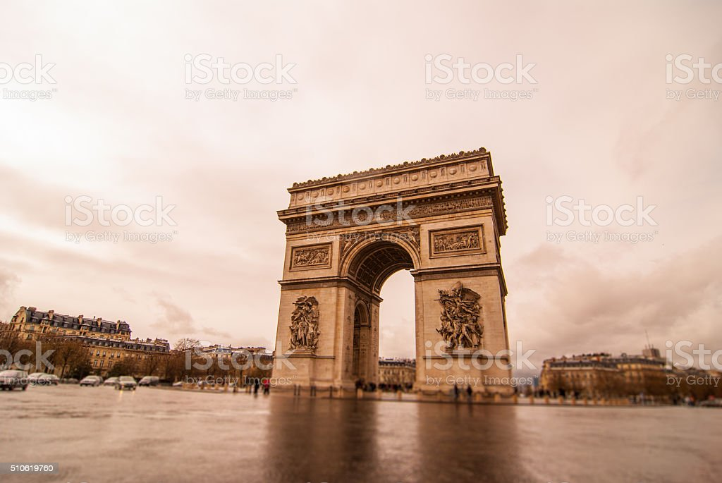 Triumphal arch, Paris stock photo