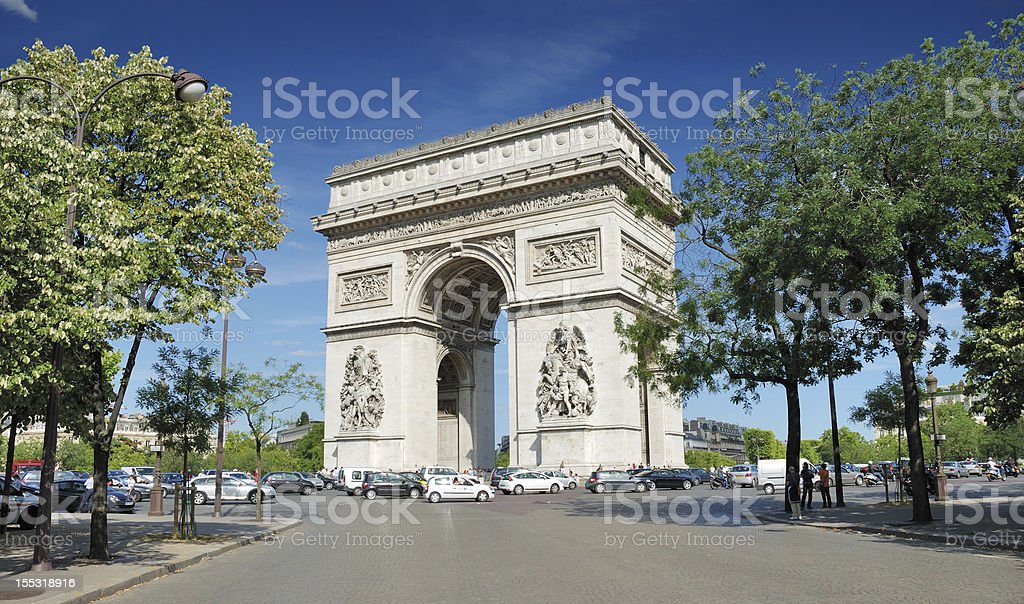 Triumphal Arch. royalty-free stock photo