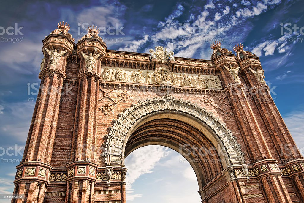 Triumphal Arch stock photo