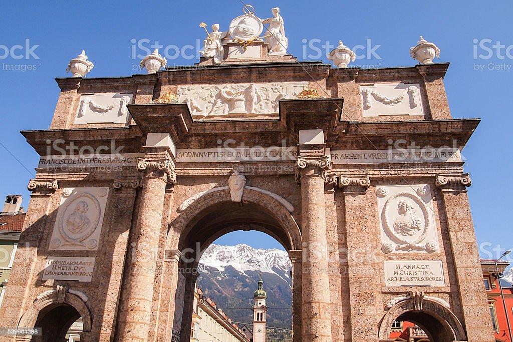 Triumphal Arch,Innsbruck,Austria stock photo