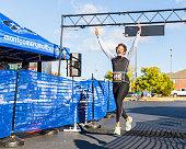 Triumphant 5k Run Leap