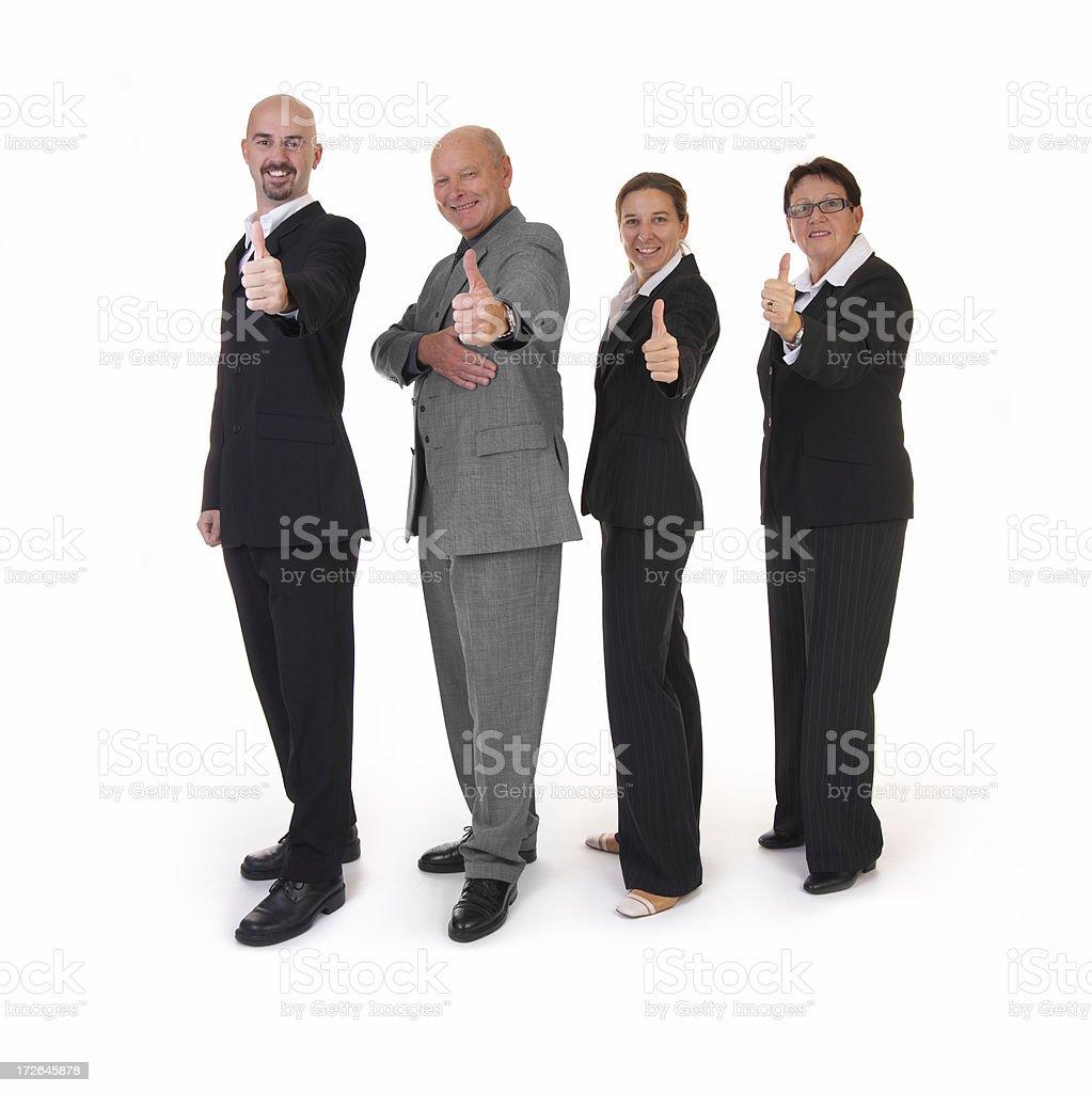 triumphant businessteam stock photo