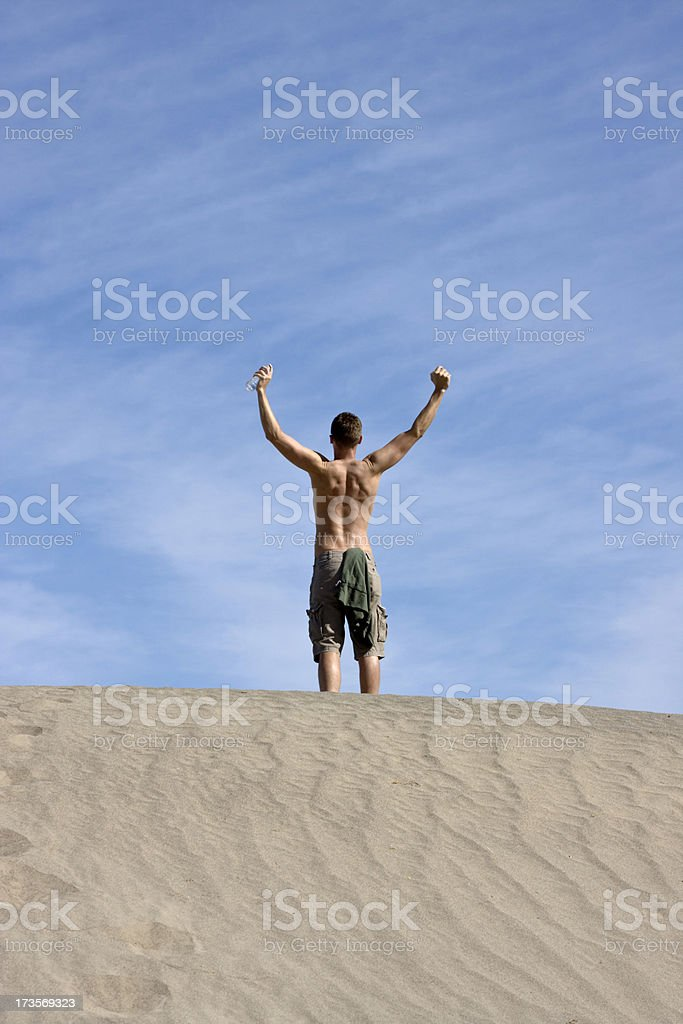 Triumphant Man royalty-free stock photo