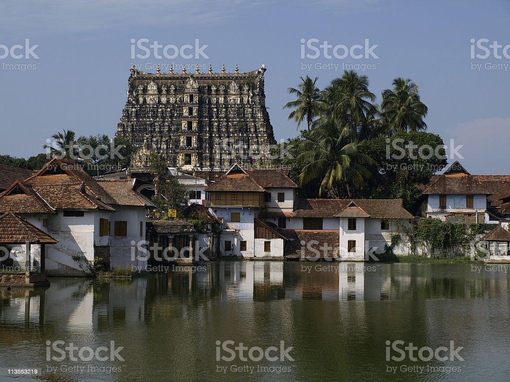 Trivandrum temple,Kerala,India. stock photo