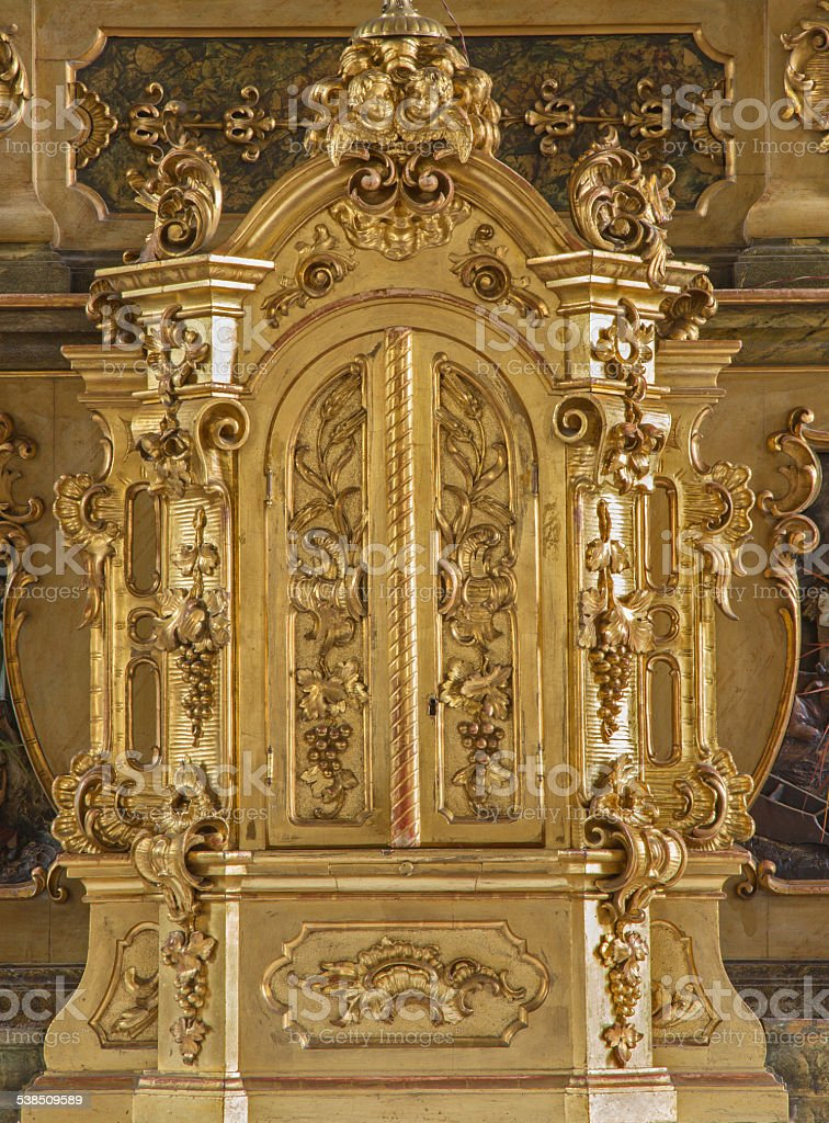 Trnava - Tabernacle in Jesuits church from 19. cent. stock photo