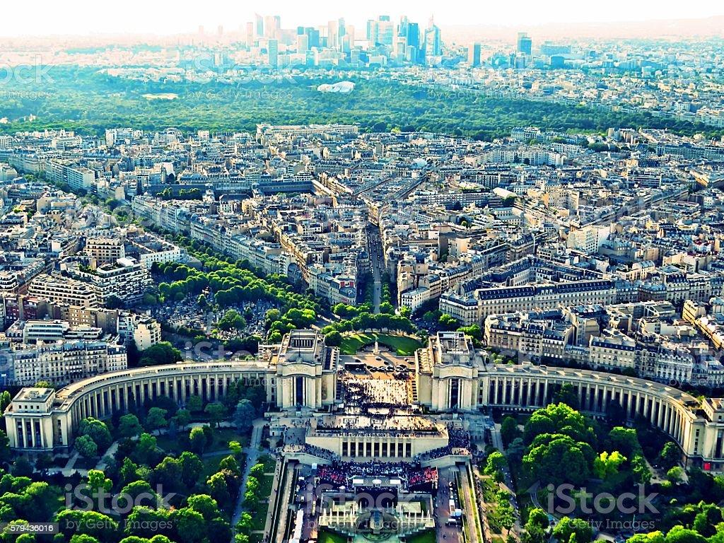 Quartier du Trocadéro, Palais de Chaillot stock photo