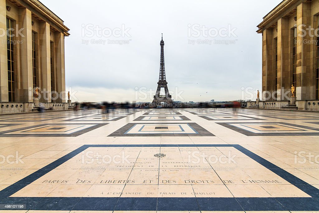 Trocadero Eiffel stock photo