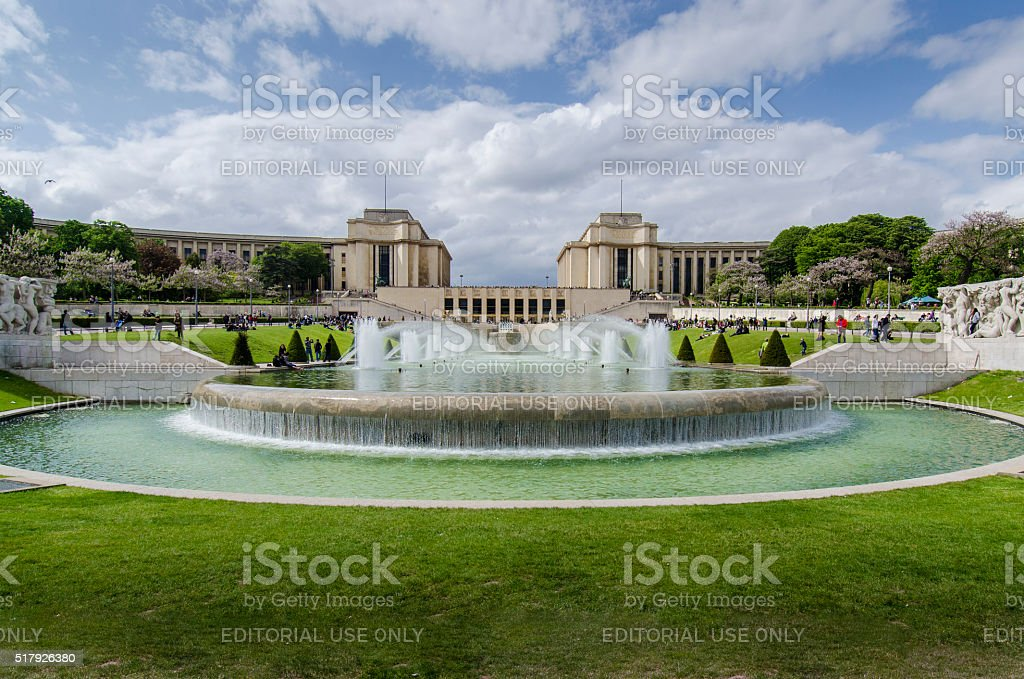 Trocadero, Paris stock photo