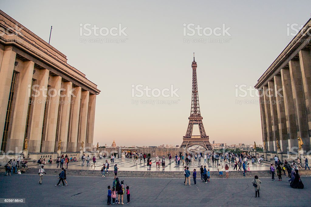 Place du Trocadero stock photo