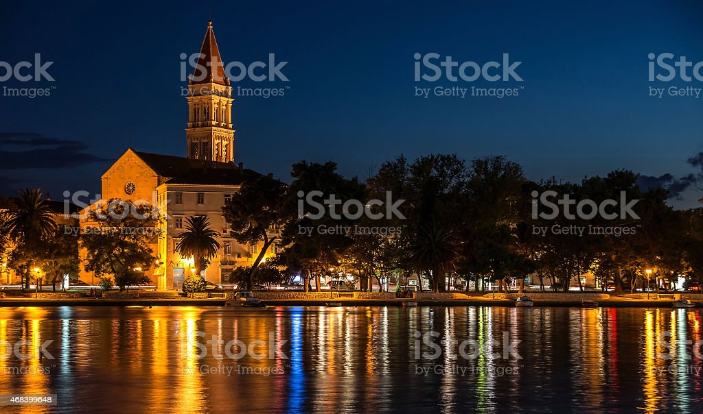 Trogir at the evening stock photo