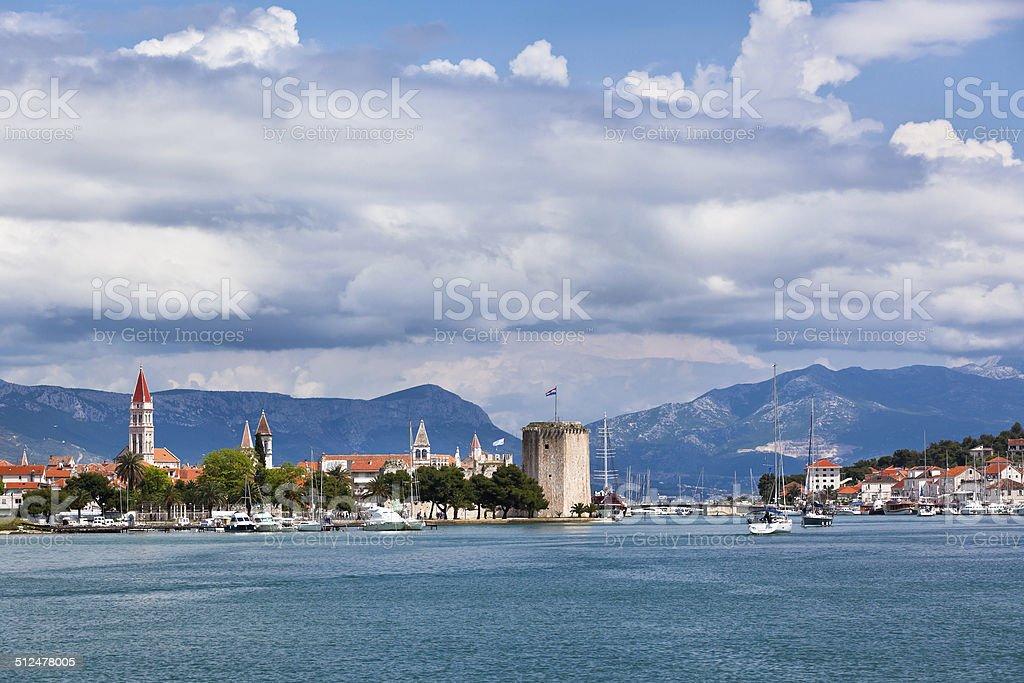 Trogir, Croatia view from the sea stock photo