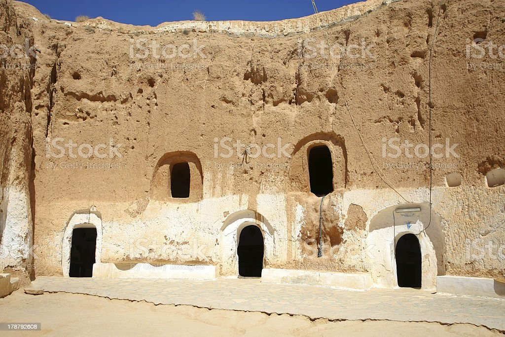 Troglodyte communities with rooms royalty-free stock photo