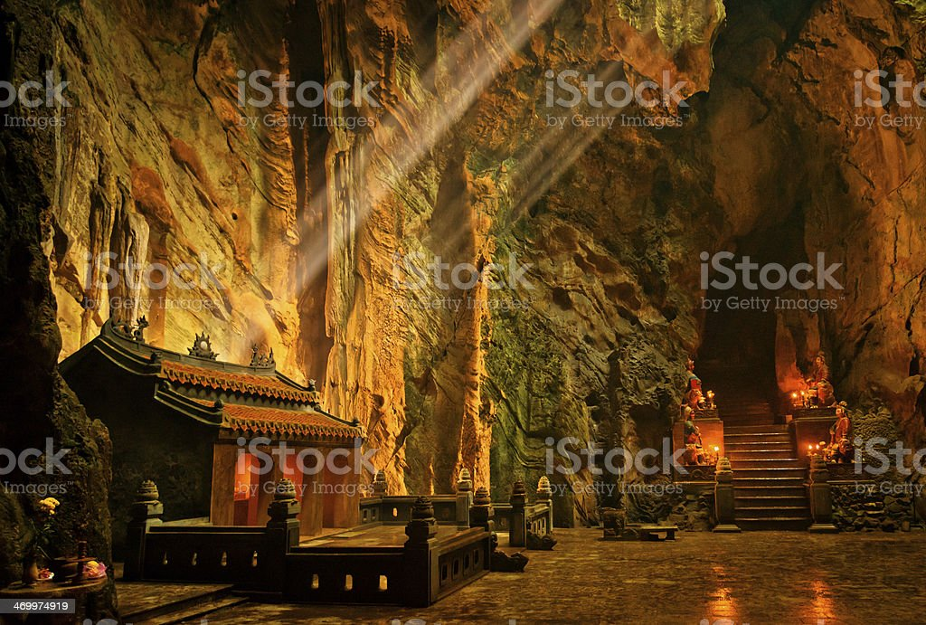 Troglodyte temple, Da Nang, Vietnam stock photo
