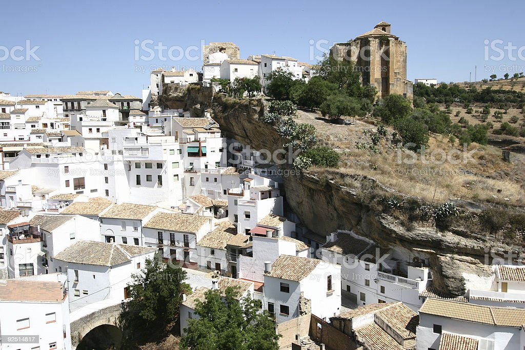 Troglodyte village in south of spain royalty-free stock photo