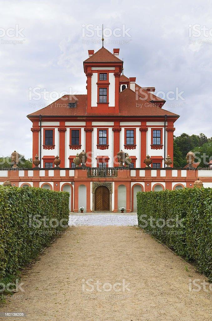Troja Palace royalty-free stock photo
