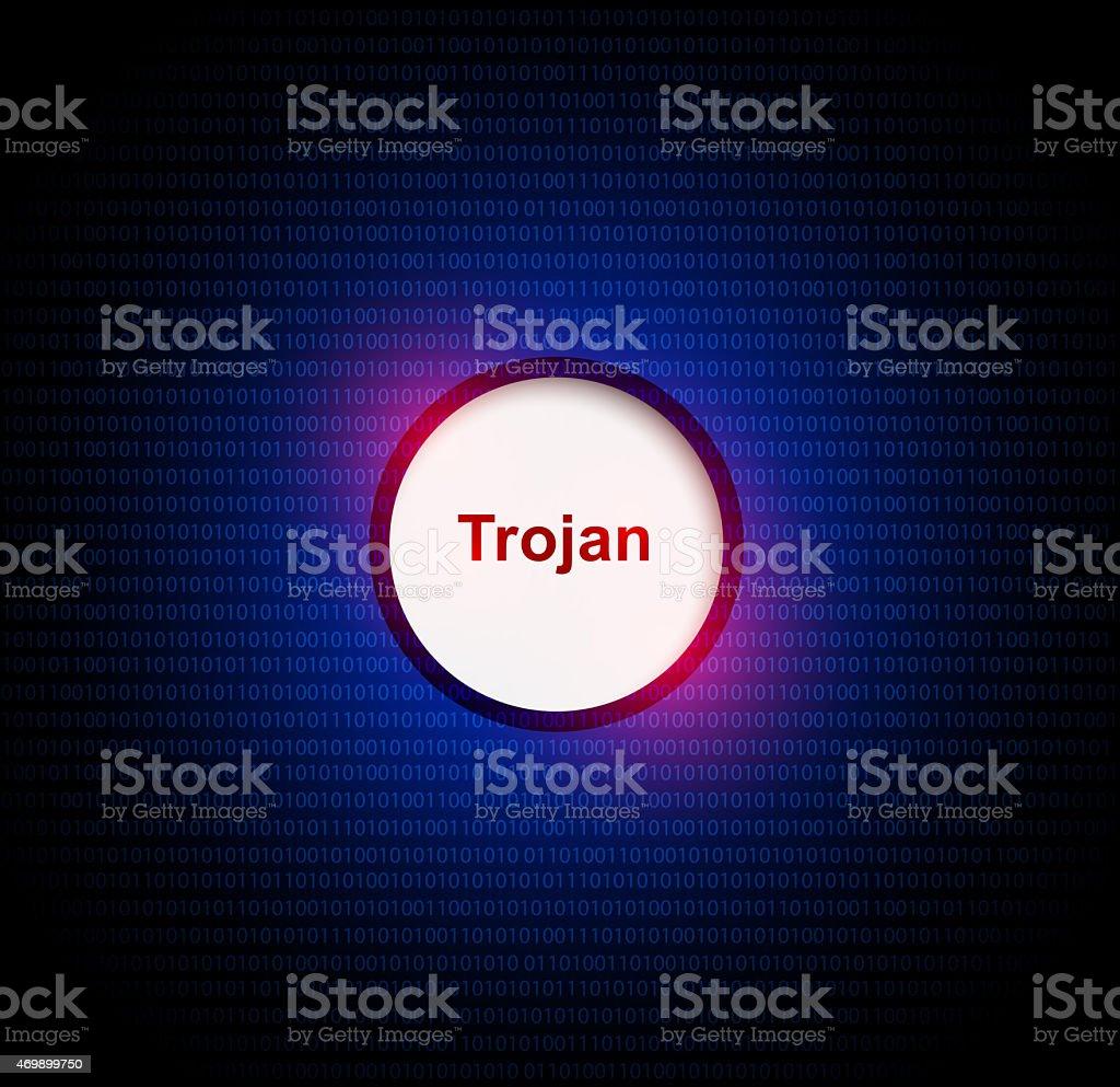 Trojan virus stock photo