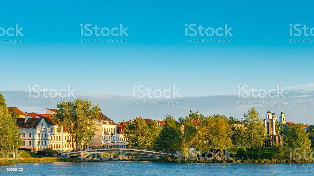 Trojeckaje Pradmiescie in Minsk, Belarus. stock photo