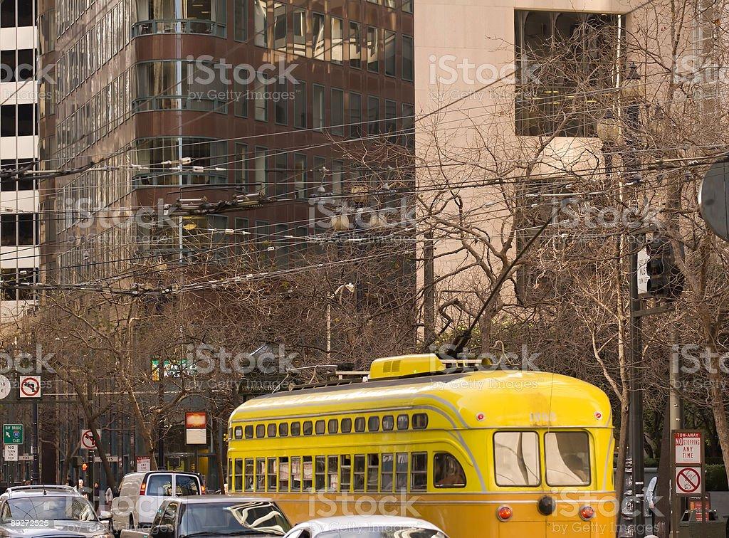 Trolley Go royalty-free stock photo