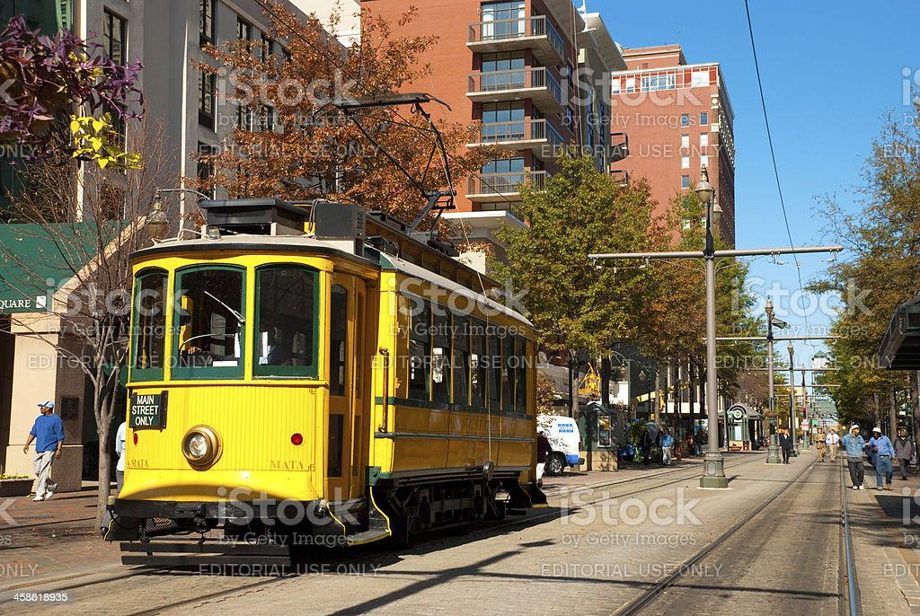 Trolley in Memphis, TN royalty-free stock photo