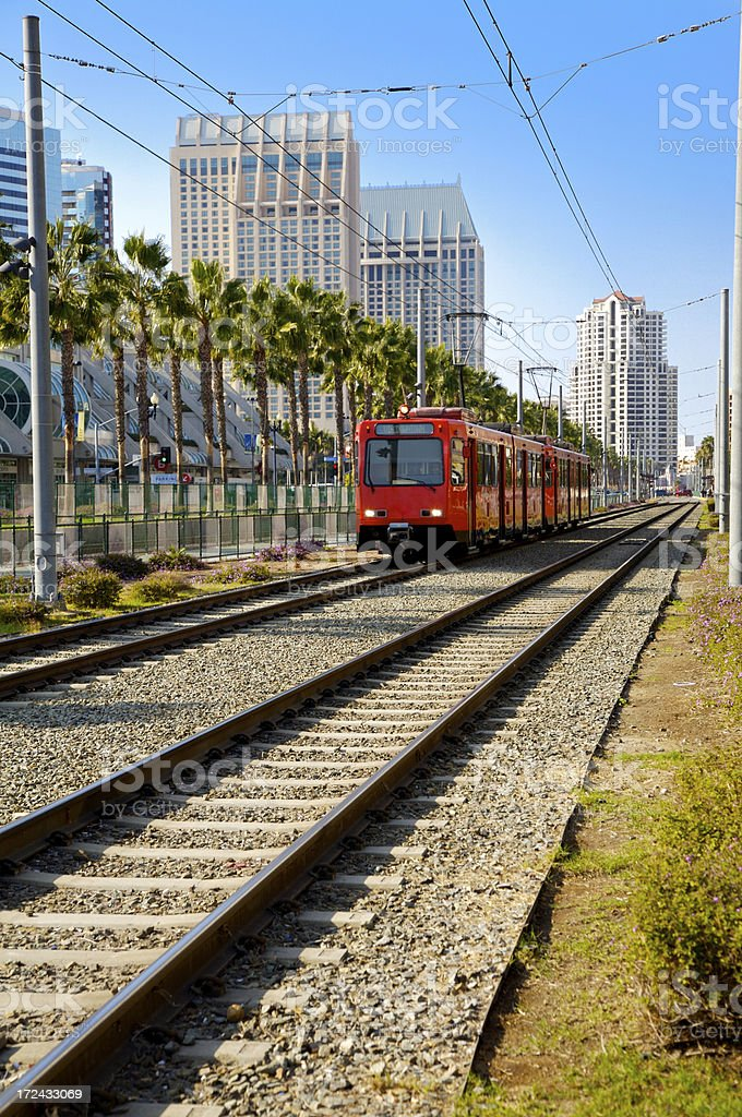 Trolley in San Diego royalty-free stock photo