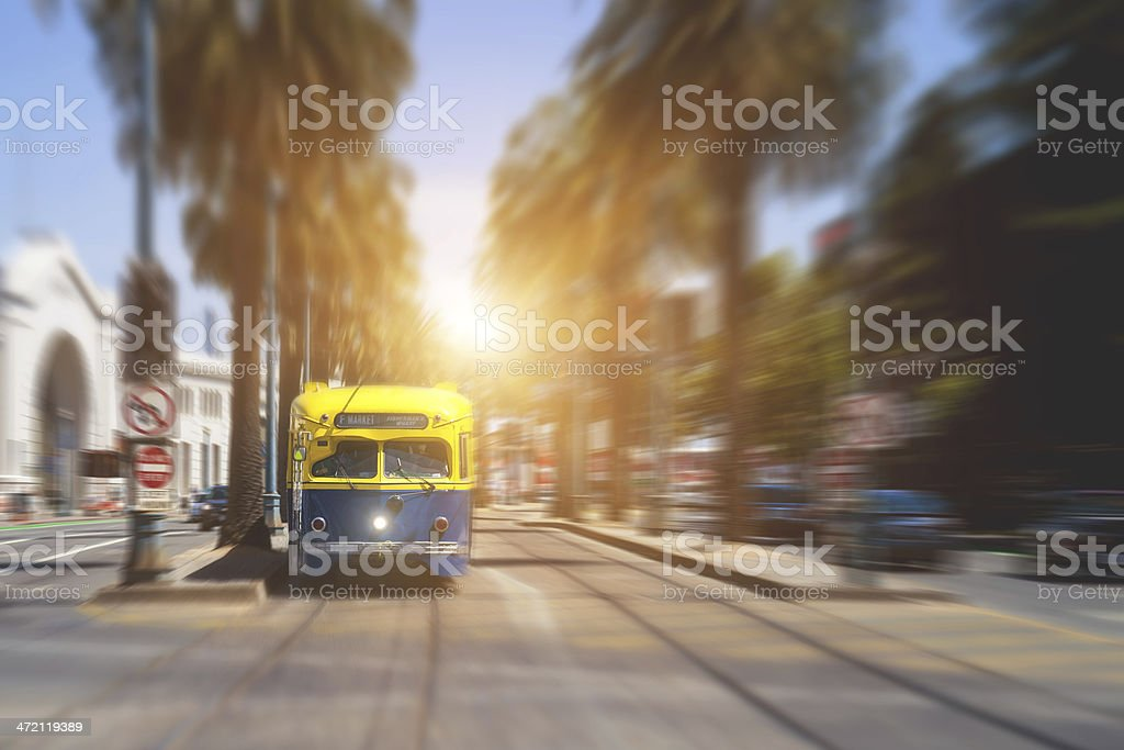 Trolley in San Francisco royalty-free stock photo