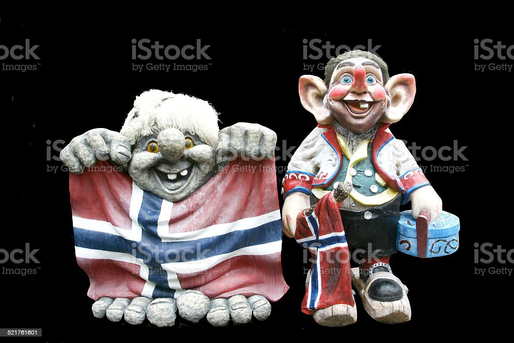 Trolls of Flam, Norway stock photo