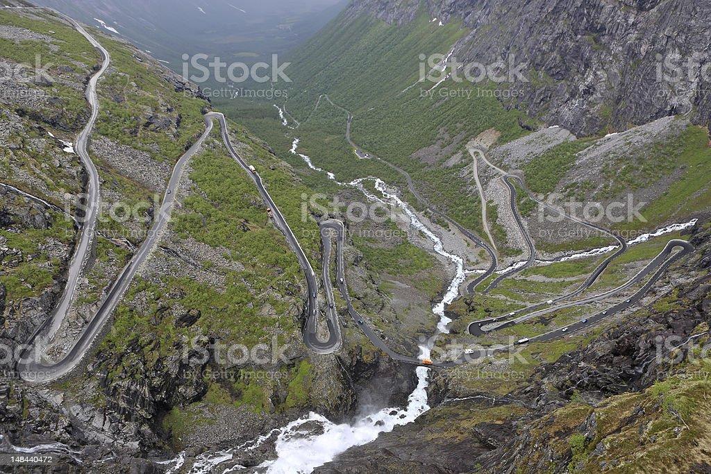 Trollstigen royalty-free stock photo