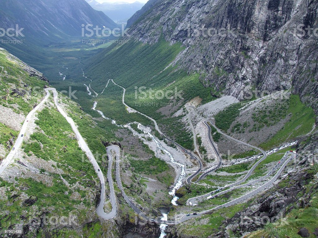 Trollstigen - tortuous mountain road royalty-free stock photo