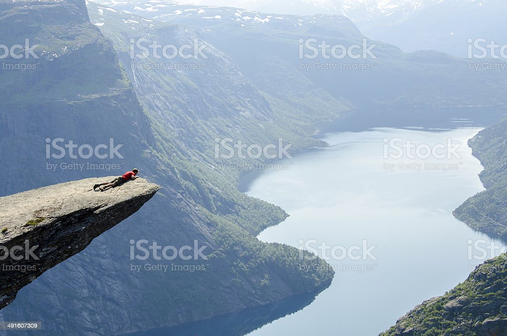 Trolltunga in Norway stock photo