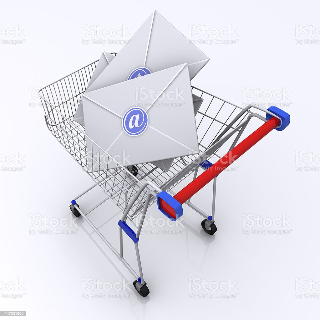 Trolly of Letters stock photo