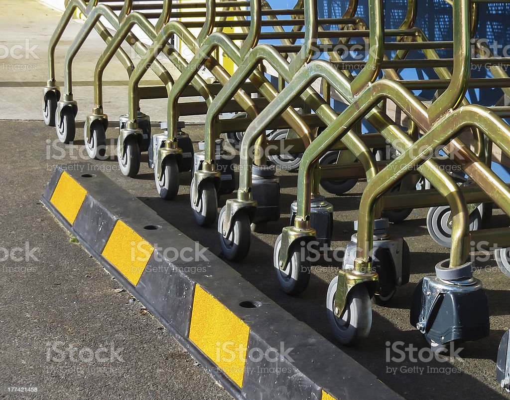 Trolly Parking stock photo