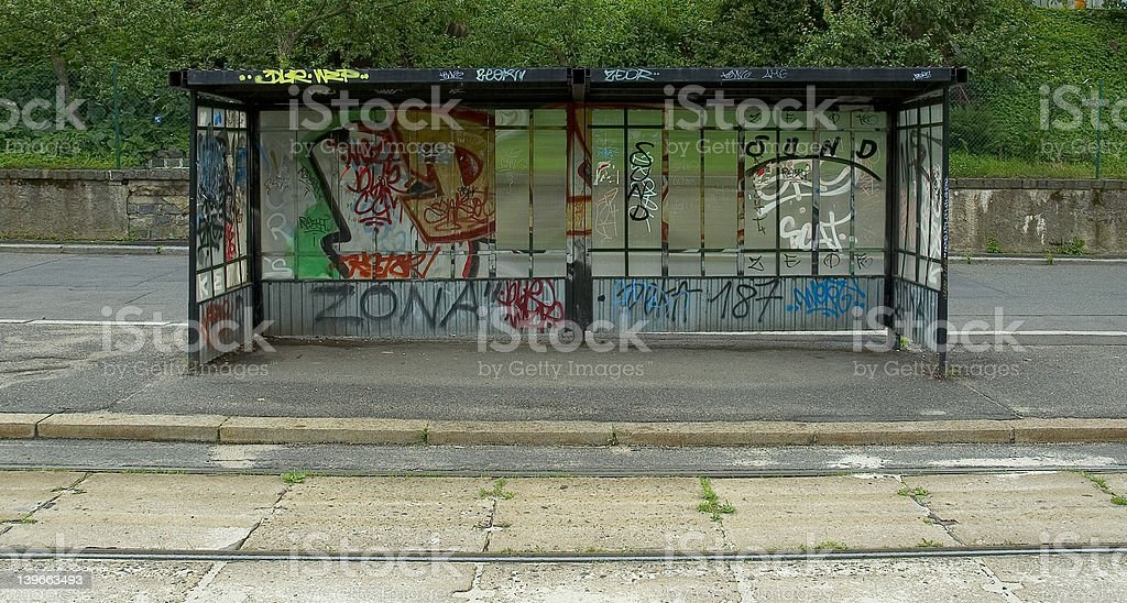 trolly stop stock photo