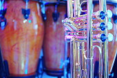 trombone and congas