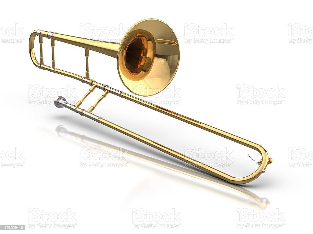Trombone royalty-free stock photo