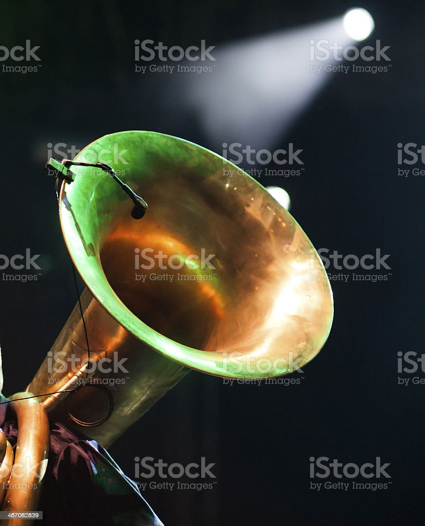 Trombone player royalty-free stock photo